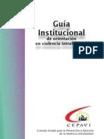 Guia Institucional de Orientacion de Violencia Intrafamiliar
