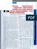 Article on Condition Monitoring of Transformer
