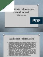 Auditoria Informática vs Auditoría de Sistemas