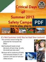 2013 101 Critical Days of Summer