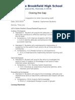 lessonplan - closing the gap rb
