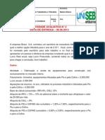 06.06.2013 - Atividade Avaliativa n° 2 - Contabilidade Tributária e trabalhista