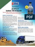 15W-40 Diesel oil for CJ-4 engines