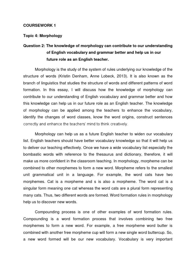 Morphology | Morphology (Linguistics) | Part Of Speech