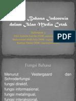 Fungsi Bahasa Indonesia Dalam Iklan Media Cetak (Present)