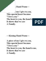 Kissing Hand Poem
