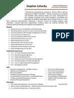 Lehocky Resume - M130515
