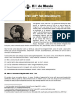 A Safe, Open City for Immigrants
