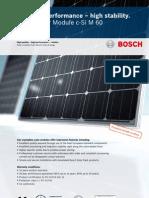 Bosch Solar Module c-Si M 60 240W Spec Sheet