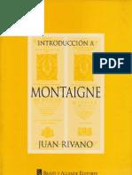 Introduccion a Montaigne