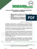 Comunicado Invima 017 11 Invima Advierte Sobre La Comercializacion Del Producto Bi Yan Pian