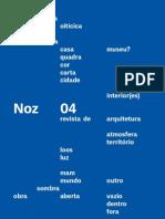 Noz 04 revista de arquitetura