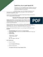 Instalasi Squid Proxy Server Pada Opensuse