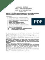 Analisis Libros Hermeneutica