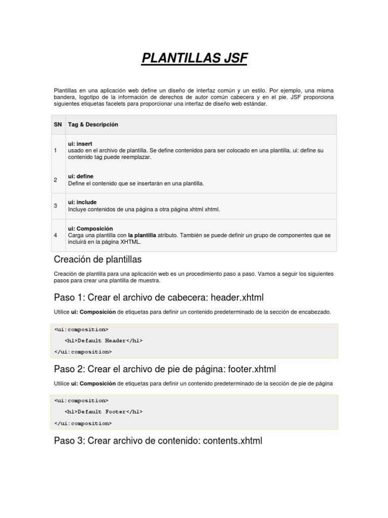 Plantillas en una aplicación web define un diseño de interfaz común ...