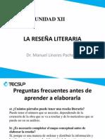 UNIDAD XII la reseña literaria y el ensayo