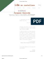 Derrida en Castellano - Exergo