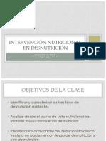 Intervencion Nutricional en Desnutricion