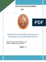 Estudio de las pérdidas mecánicas en los motores de combustión interna