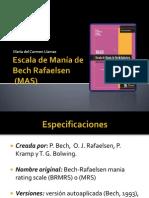 PPt de la escala de Manía de Bech Rafaelsen (MAS)