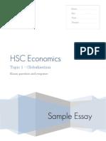 Globalisation Essay