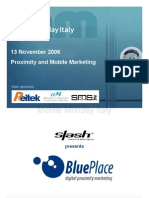 2006-11-13 BluePlace digital proximity marketing - Mario Porchera - Slash