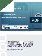 2006-11-13 Il cellulare. Un nuovo media - Riccardo Bellati - Mobedia