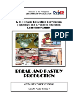 K to 12 TLE Curriculum Guide for Bread and Pastry Production
