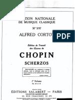Chopin - Alfred Cortot édition de travail - Scherzos [1-2]