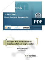 2007-03-12 Analysis and Optimization for Mobile customers segmentation - Giovanni Giuffrida - Neodata Group