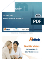 2007-04-23 Mobile video. Interaction is Key to Success - Gianluca Ferranti - REITEK