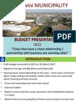Dcci 2013-2014 Budget Presenttaion