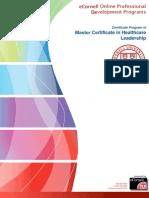 Master Certificate in Healthcare Leadership SLNMC01