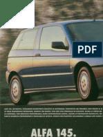 Pubblicità alfa 145 1995