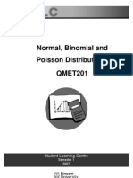 Normal Binomial Poisson