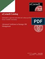 Advanced Certificate in Strategic HR Management ILRASHRC1