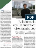 Bolañomania, così un anarchico diventa mito pop - La Stampa 16.05.2013