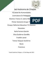 Universidad Autónoma de Chiapas ENSAYO FRANCK