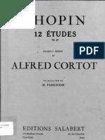 Cortot - Chopin Etudes Op.10 (Student's Edition)