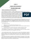 MBA CRISIS MANAGEMENT NOTES