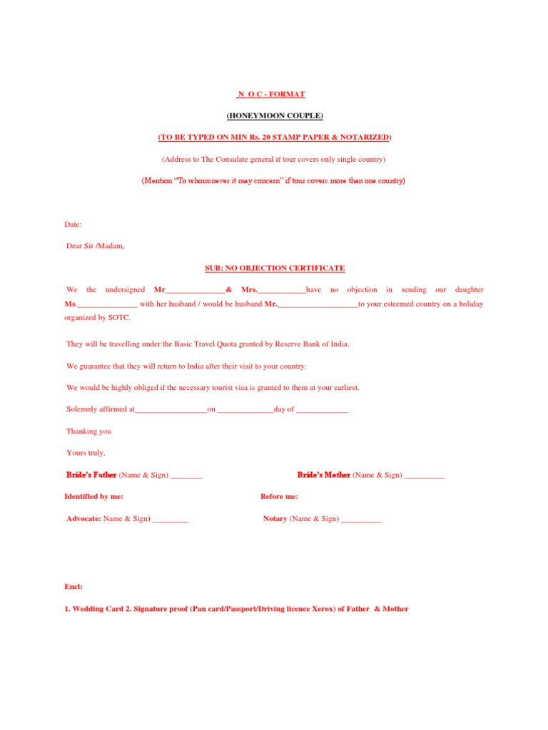 how to write a noc letter – Sample of No Objection Letter from Employer