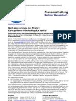 Pressemitteilung vom Berliner Wassertisch vom 16. Mai 2013