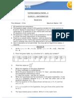 1291109172 ClassXI Math TopperSamplepaper 50