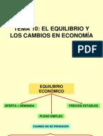 Tema 10-El Equilibrio y Los Cambios en La Economia