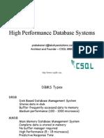 High Performance Database