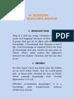 Three Kinds of Knowledge