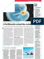 A fertilización actual dos océanos