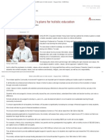 Minister outlines MOE's plans for holistic education - Singapore News