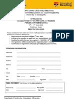 CPD QS 2 Registration Form
