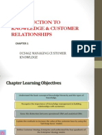Chpt 1 Intorduction to Knowledge & Customer Relationships